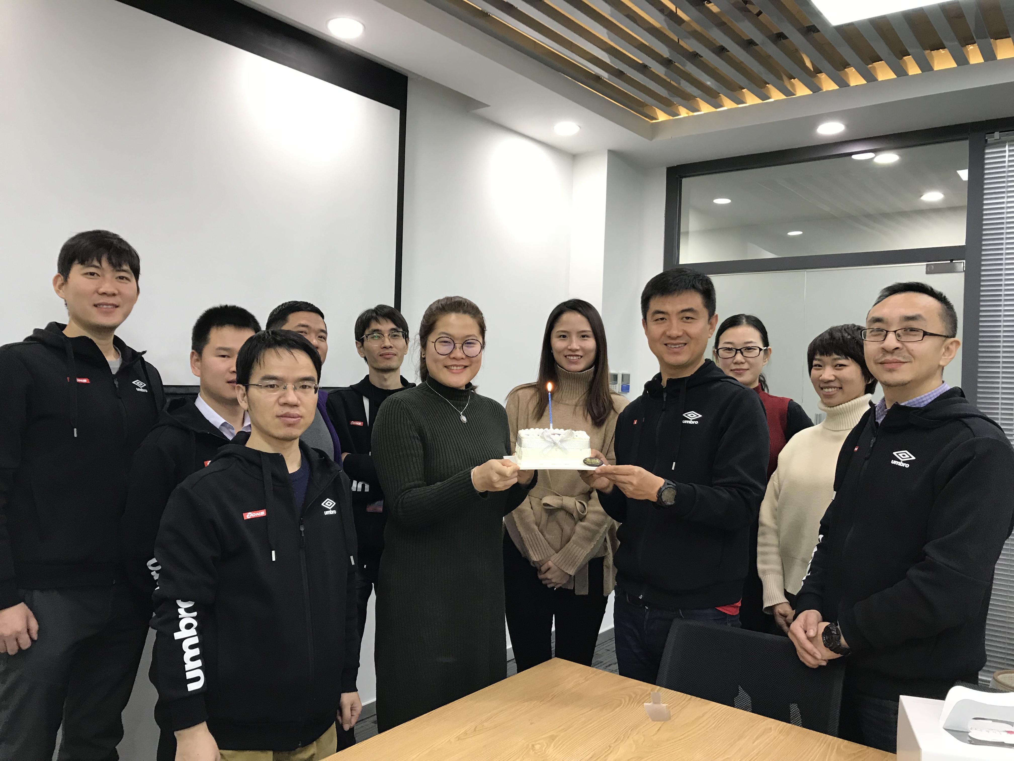 ZDNS cake and staff